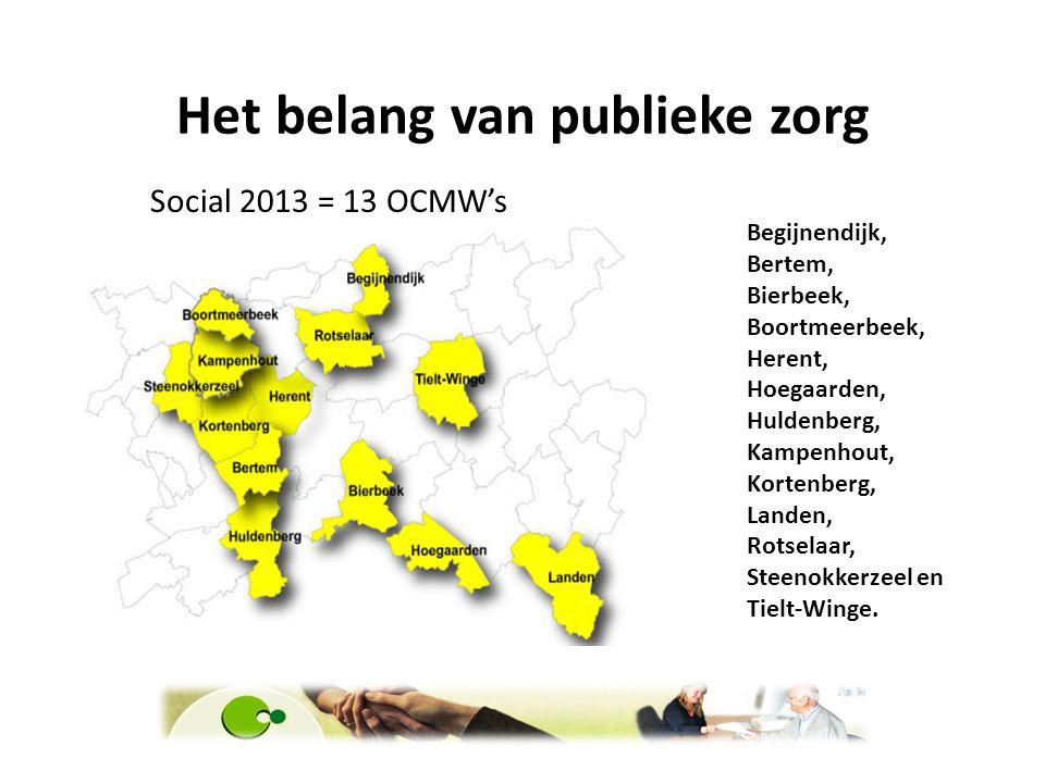 Het belang van publieke zorg Begijnendijk, Bertem, Bierbeek, Boortmeerbeek, Herent, Hoegaarden, Huldenberg, Kampenhout, Kortenberg, Landen, Rotselaar,