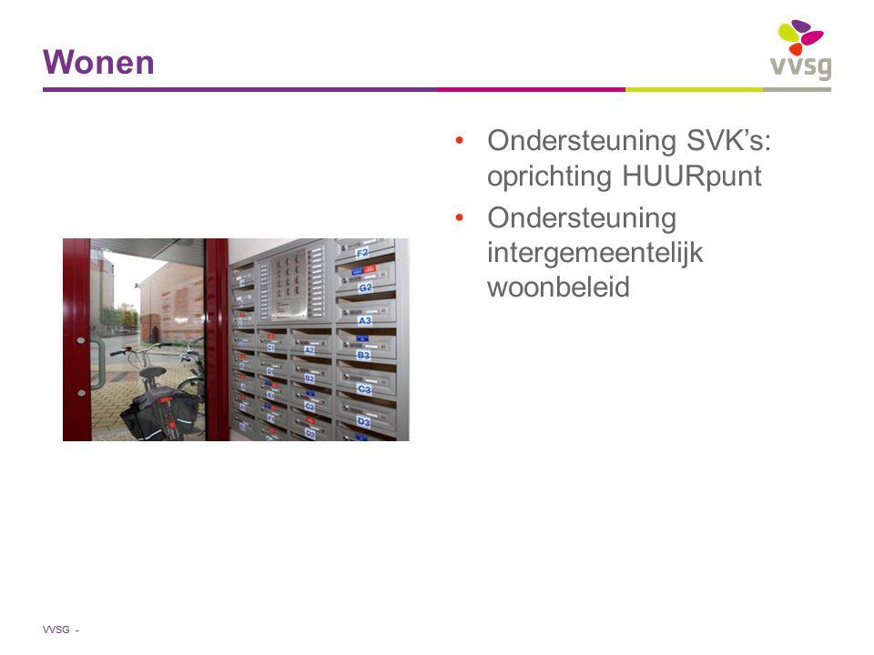 VVSG - Ondersteuning SVK's: oprichting HUURpunt Ondersteuning intergemeentelijk woonbeleid Wonen