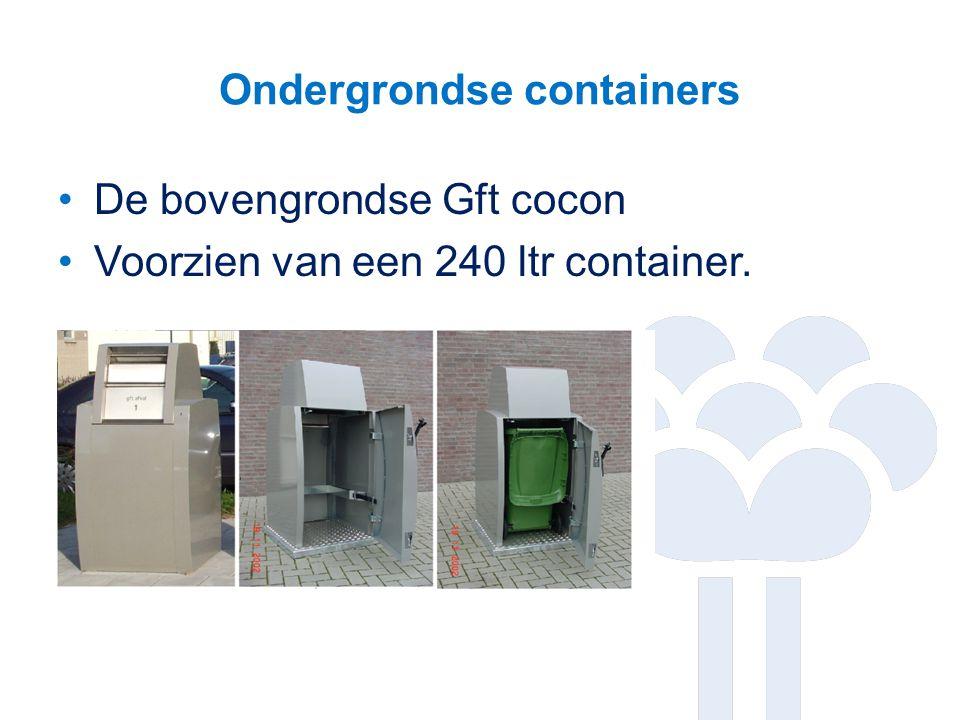 Ondergrondse containers De bovengrondse Gft cocon Voorzien van een 240 ltr container.
