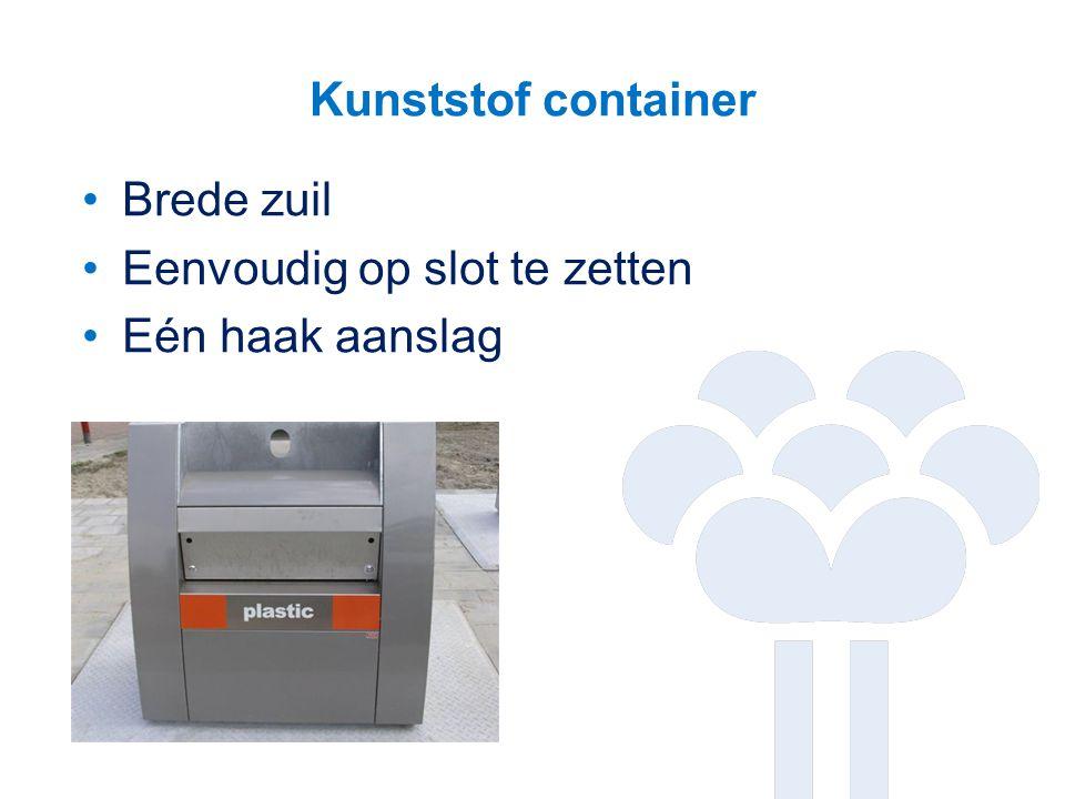 Kunststof container Brede zuil Eenvoudig op slot te zetten Eén haak aanslag