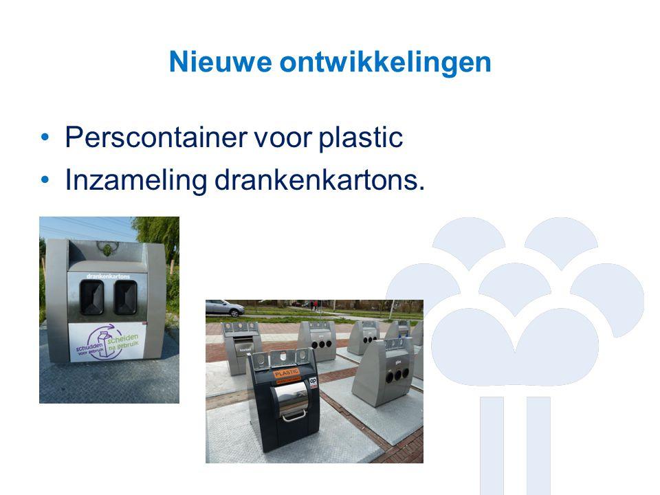 Nieuwe ontwikkelingen Perscontainer voor plastic Inzameling drankenkartons.