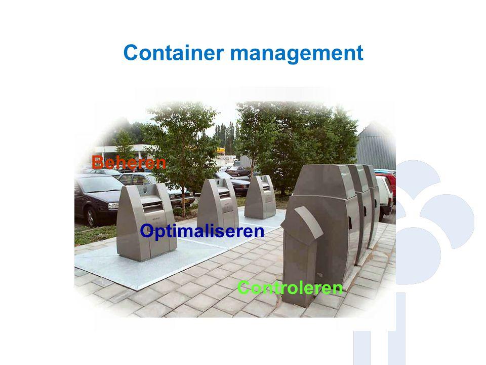 Ondergrondse containers Aanbiedingsgedrag zichtbaar Legen naar behoefte.