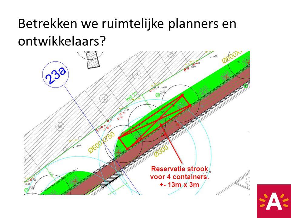 Betrekken we ruimtelijke planners en ontwikkelaars?