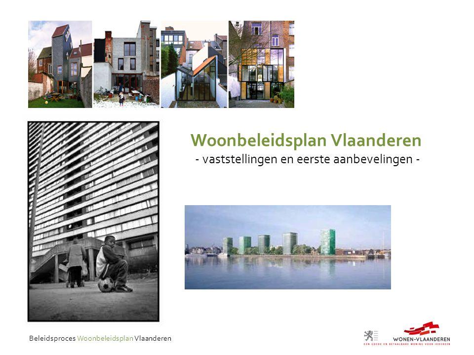 Beleidsproces Woonbeleidsplan Vlaanderen Woonbeleidsplan Vlaanderen - vaststellingen en eerste aanbevelingen -