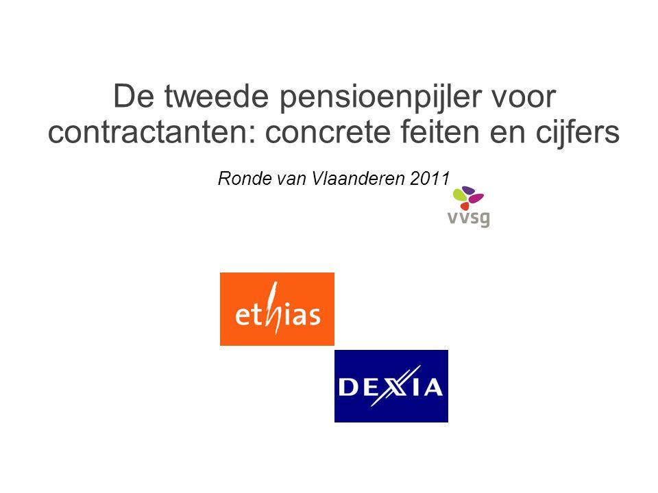 De tweede pensioenpijler voor contractanten: concrete feiten en cijfers Ronde van Vlaanderen 2011