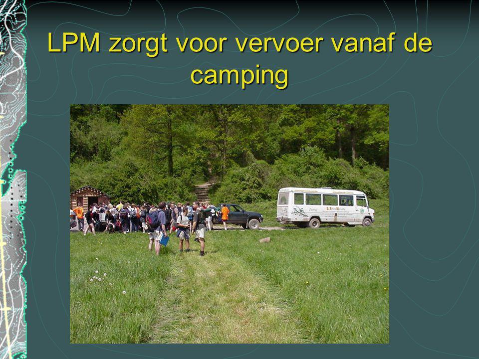 LPM zorgt voor vervoer vanaf de camping