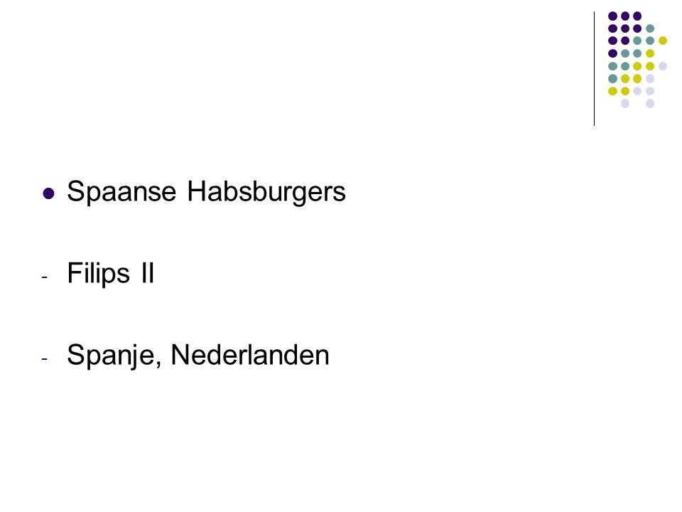 Spaanse Habsburgers - Filips II - Spanje, Nederlanden