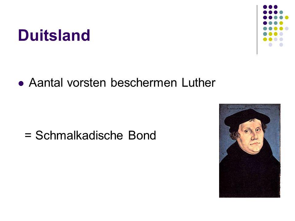 Duitsland Aantal vorsten beschermen Luther = Schmalkadische Bond