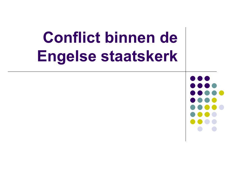 Conflict binnen de Engelse staatskerk