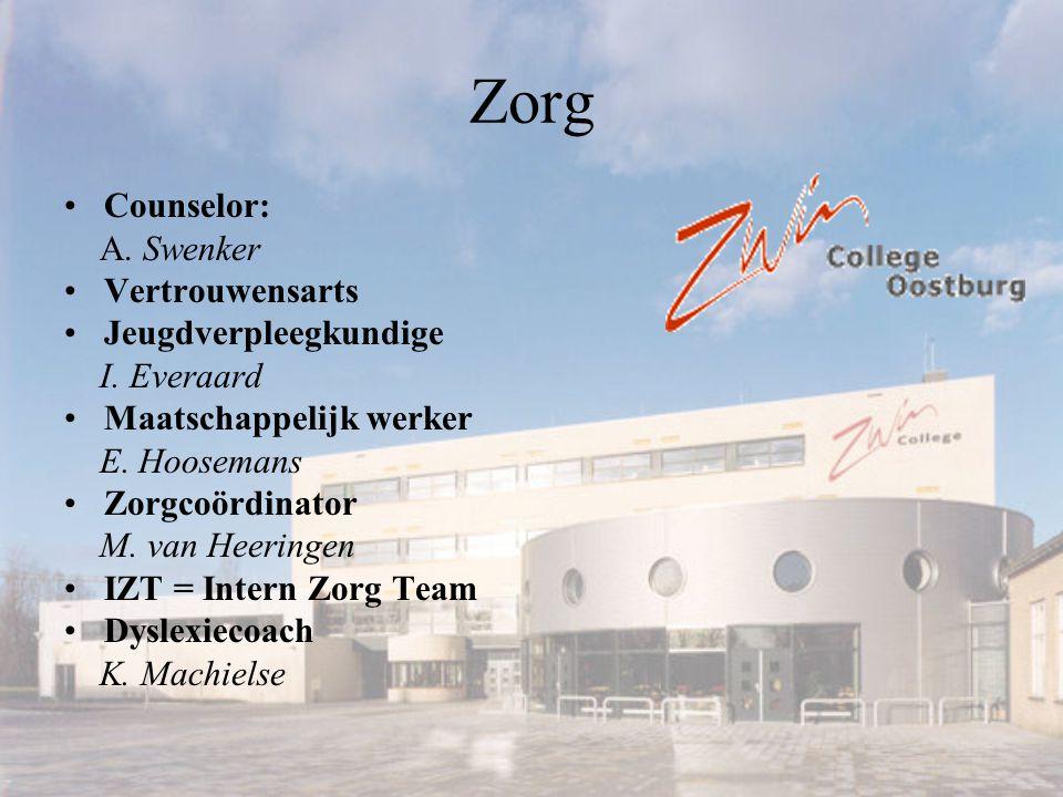 Zorg Counselor: A.Swenker Vertrouwensarts Jeugdverpleegkundige I.