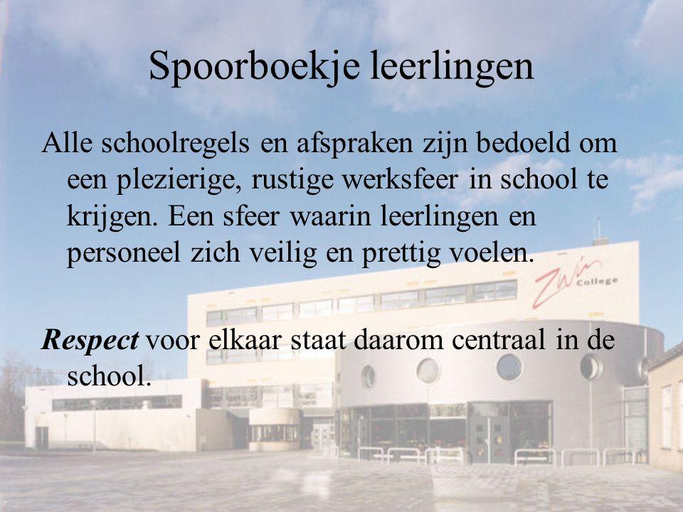 Spoorboekje leerlingen Alle schoolregels en afspraken zijn bedoeld om een plezierige, rustige werksfeer in school te krijgen.
