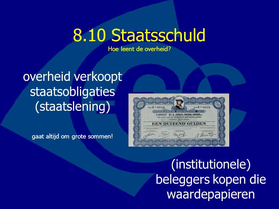 8.10 Staatsschuld Hoe leent de overheid.