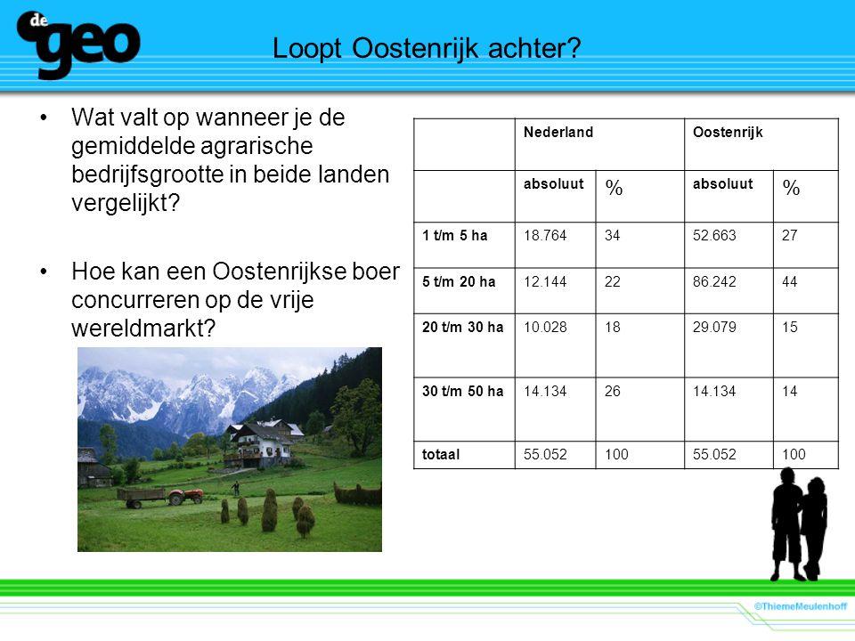 Loopt Oostenrijk achter? Wat valt op wanneer je de gemiddelde agrarische bedrijfsgrootte in beide landen vergelijkt? Hoe kan een Oostenrijkse boer con