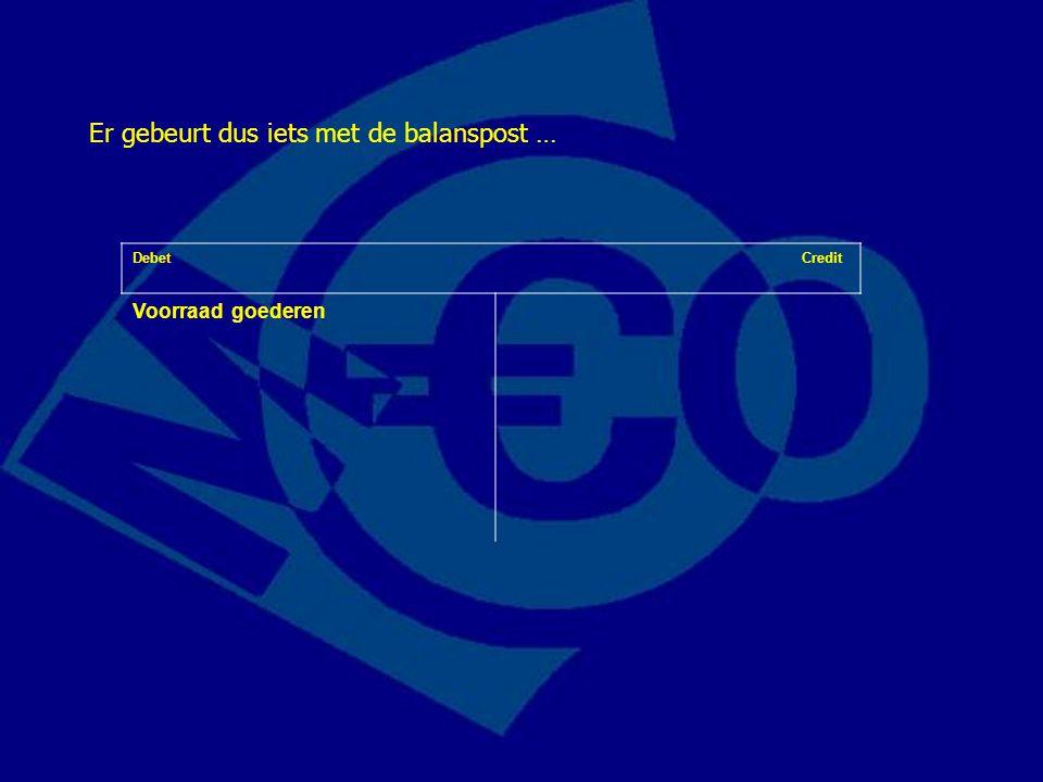 Debet Credit Voorraad goederen- € 15Eigen vermogen+ € 5 Debiteuren+ € 20 De winst wordt voorlopig gemuteerd als verandering van het … Let op: voorlopig.