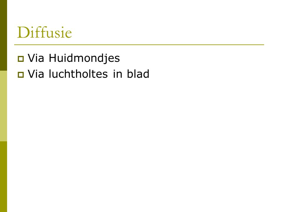  Via Huidmondjes  Via luchtholtes in blad