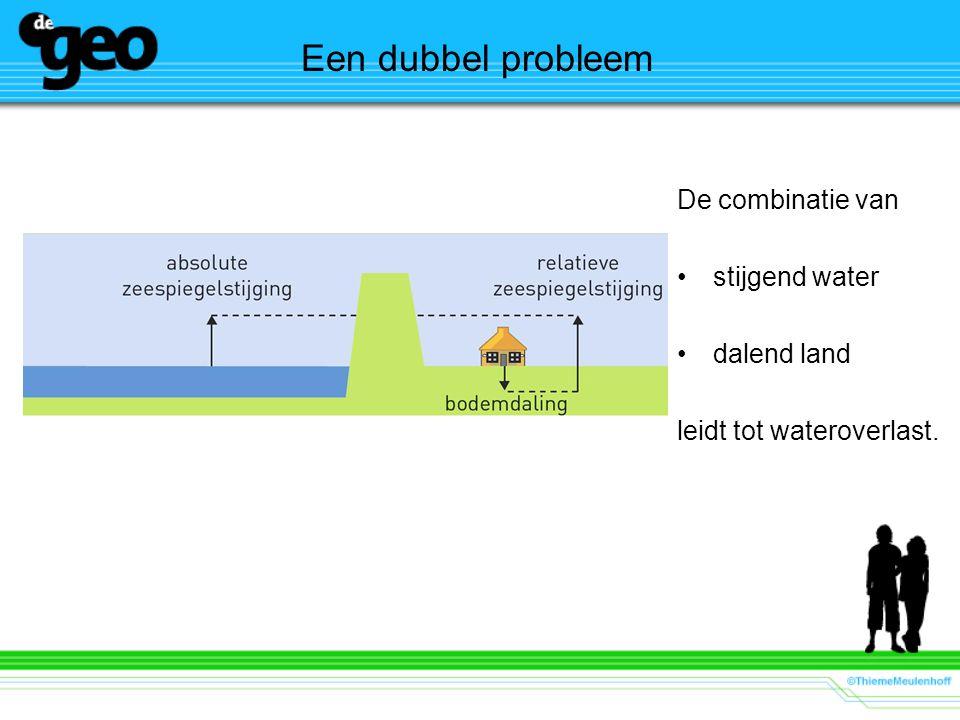 Een dubbel probleem De combinatie van stijgend water dalend land leidt tot wateroverlast.