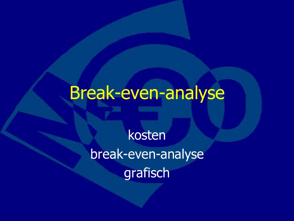 Break-even-analyse kosten break-even-analyse grafisch