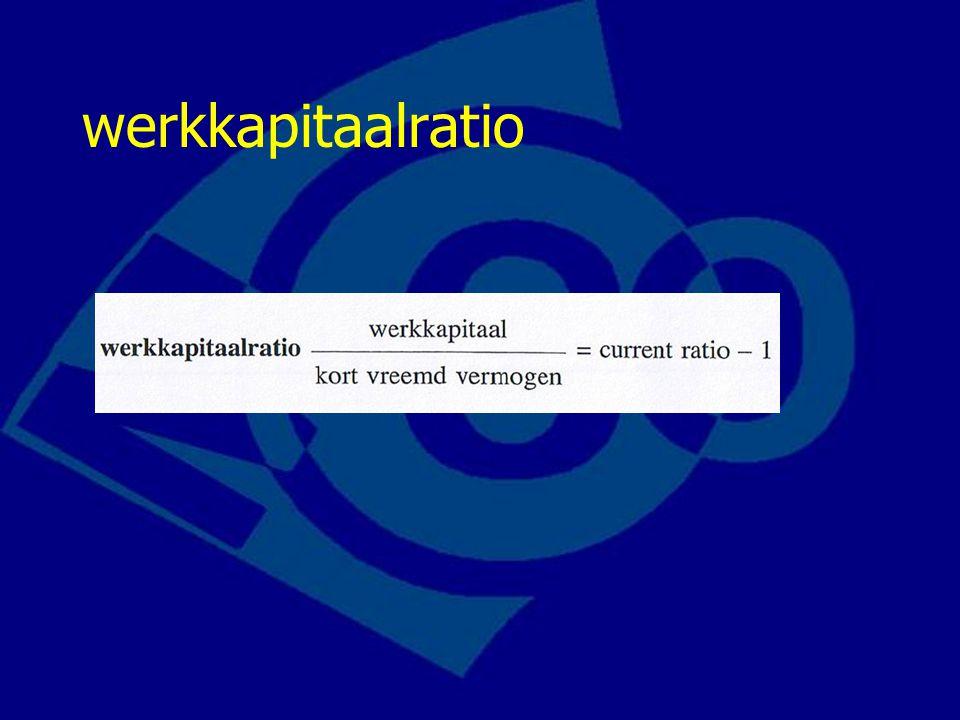 werkkapitaalratio