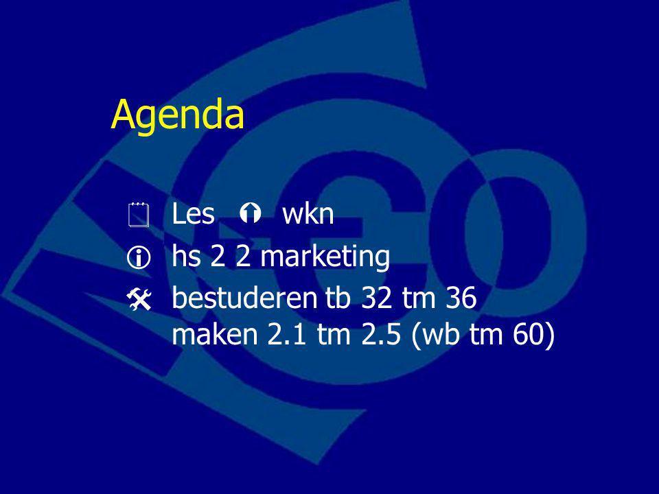 Marketing Marketing is verkoopbeleid gericht op de beïnvloeding van de wensen en behoeften van afnemers.