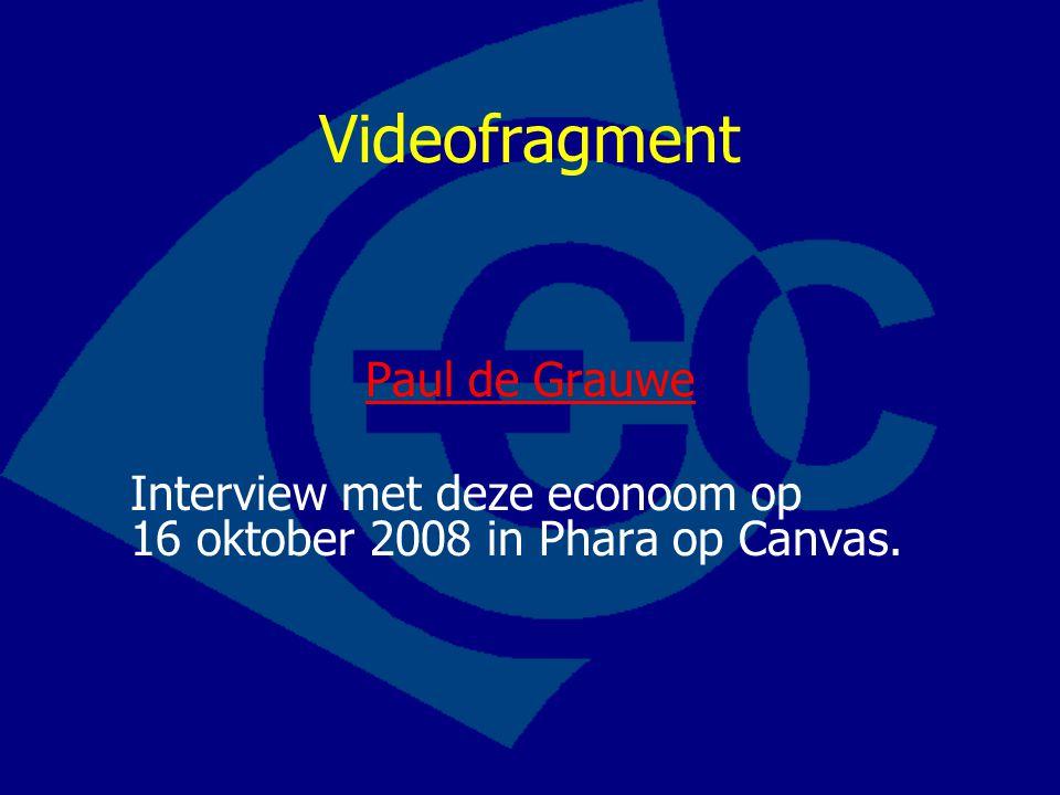 Videofragment Paul de Grauwe Interview met deze econoom op 16 oktober 2008 in Phara op Canvas.