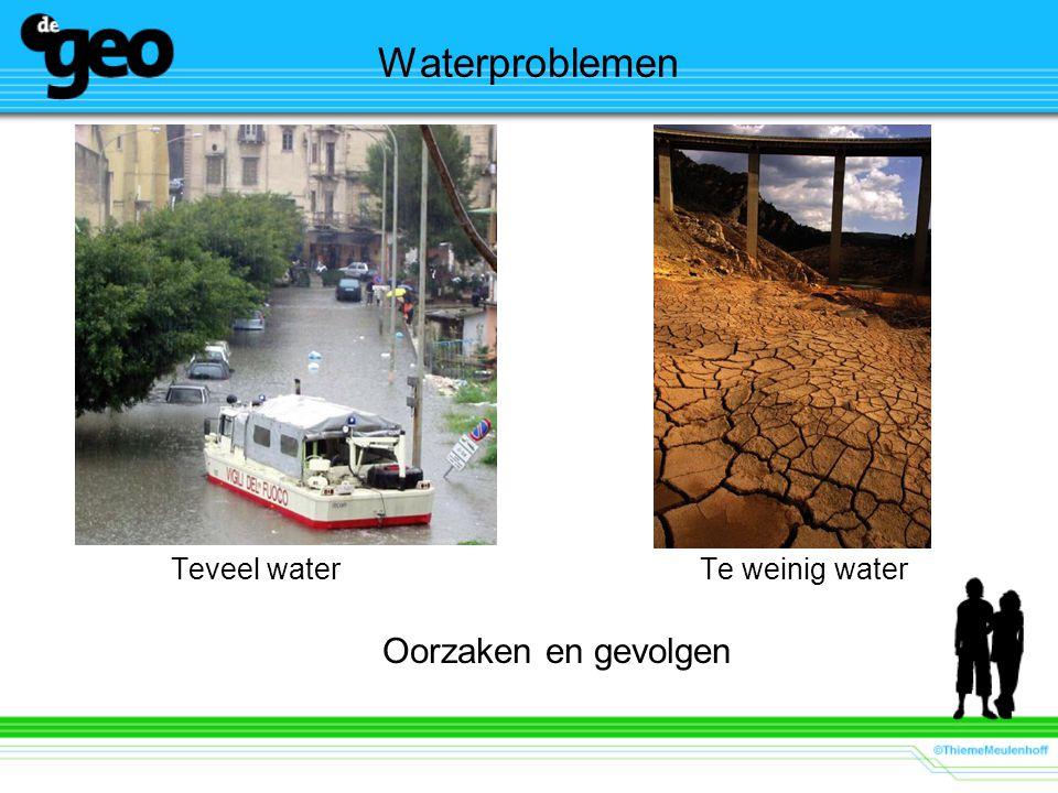 Waterproblemen Teveel waterTe weinig water Oorzaken en gevolgen