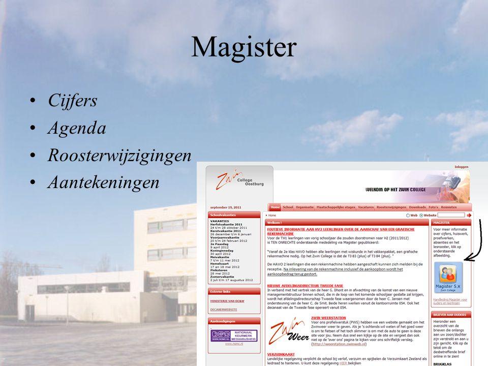 Magister Cijfers Agenda Roosterwijzigingen Aantekeningen