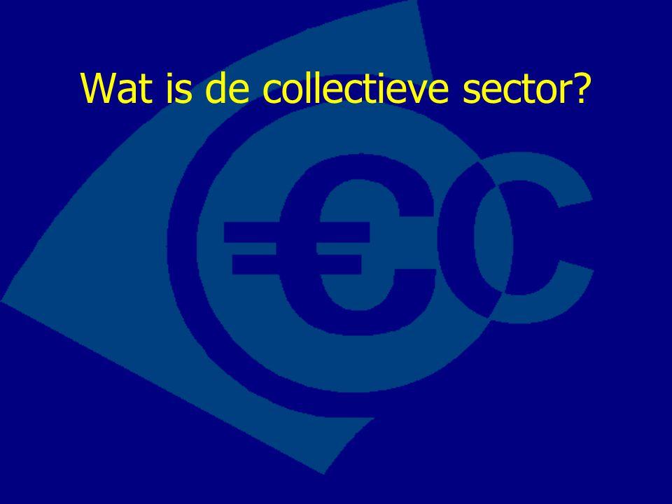 De collectieve sector bestaat uit: