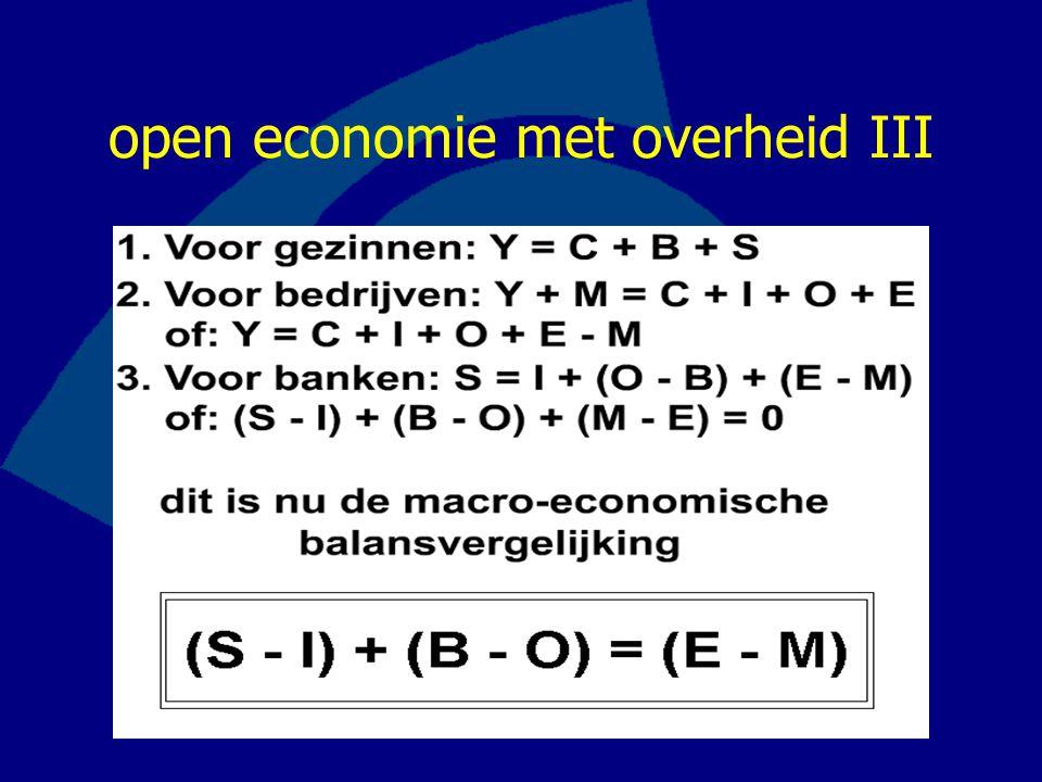 open economie met overheid III