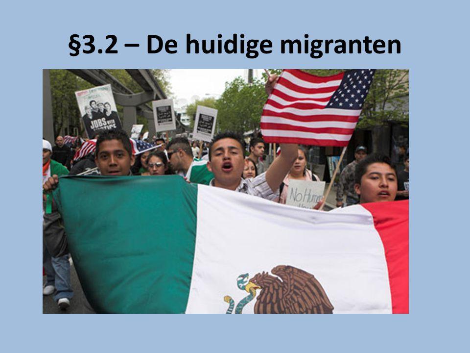 Enkele weetjes Mexico is het land in de wereld dat het meeste geld binnenkrijgt door overboekingen van arbeidsmigranten (2005 -> 20 miljard $) 6% Mexicaanse huishoudens ontvangt geld uit VS: – Meeste huishoudens op platteland in Centraal- en Zuid-Mexico – Niet uit allerarmste staten, want mensen hebben hier het geld niet om reis naar VS te betalen