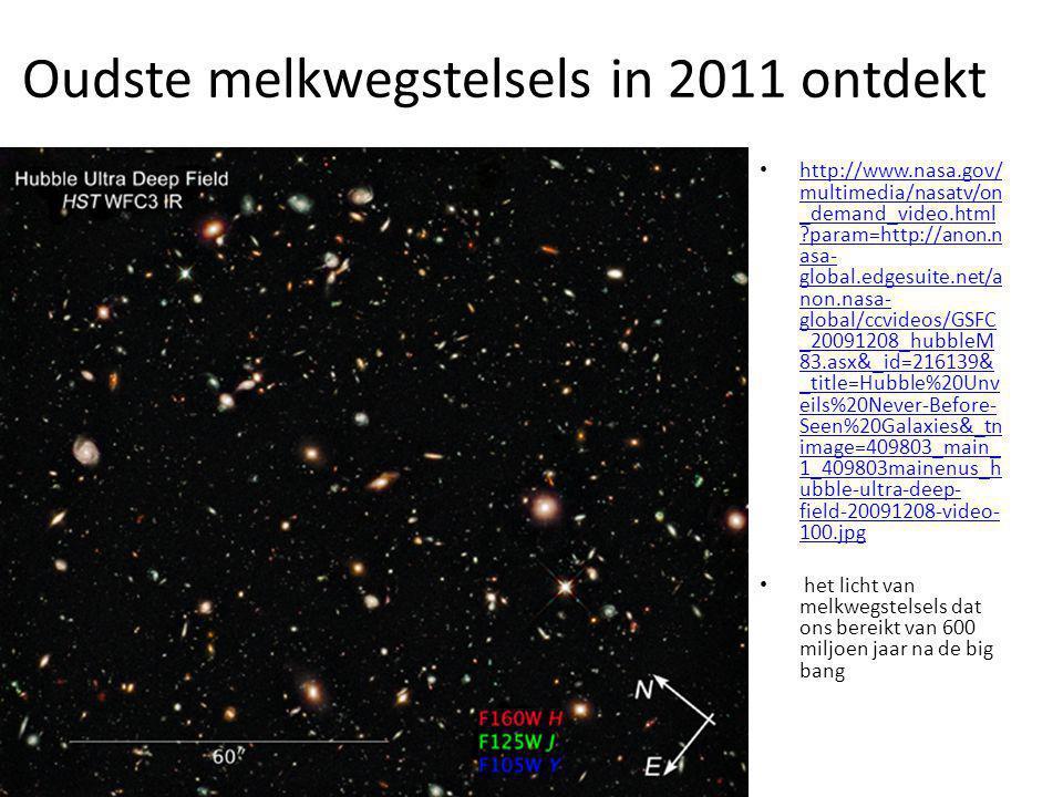 Oudste melkwegstelsels in 2011 ontdekt http://www.nasa.gov/ multimedia/nasatv/on _demand_video.html ?param=http://anon.n asa- global.edgesuite.net/a n