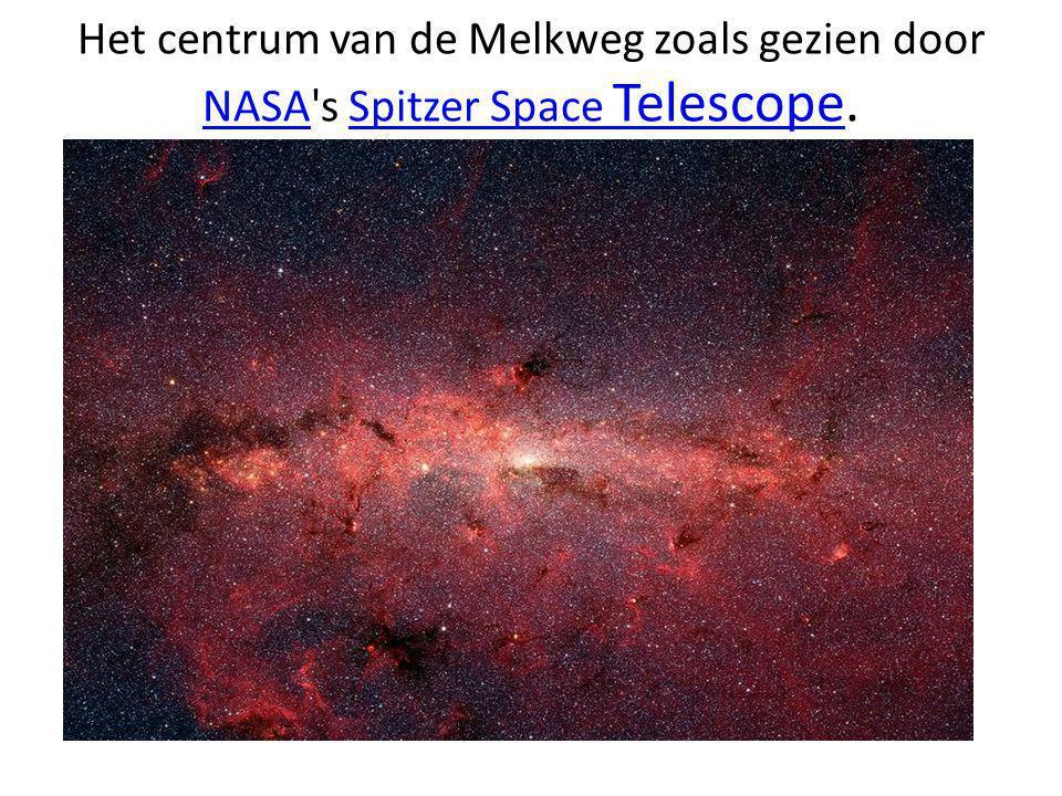 Het centrum van de Melkweg zoals gezien door NASA's Spitzer Space Telescope. NASASpitzer Space Telescope