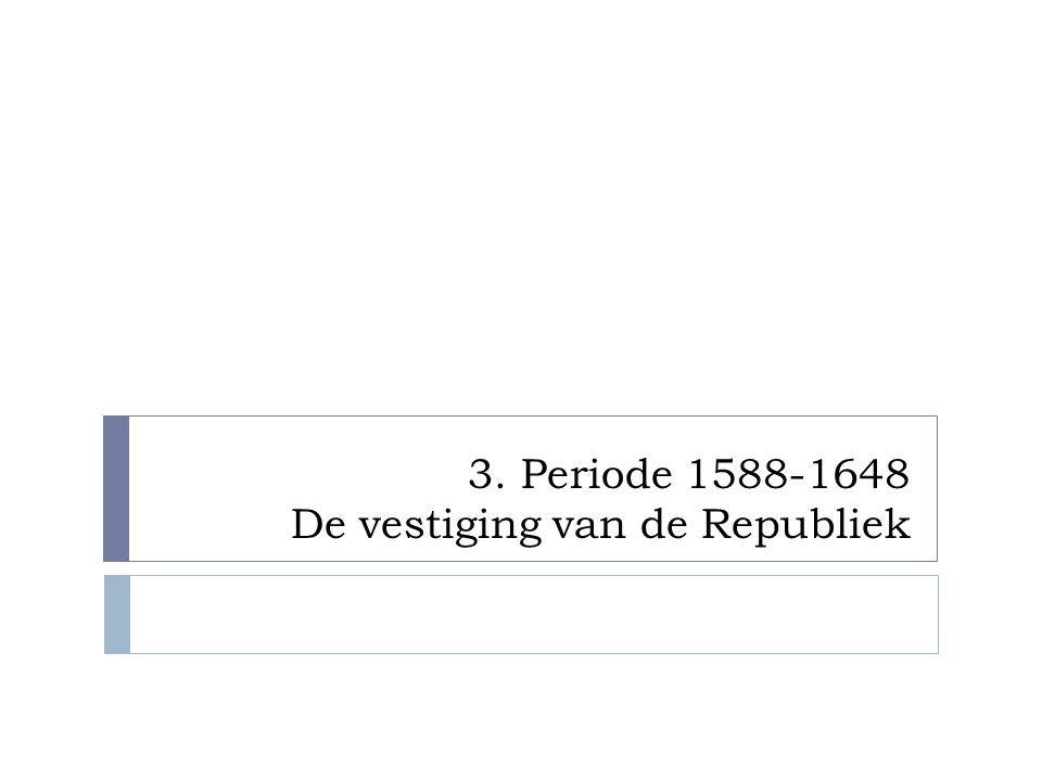  Gevolg: Twaalfjarig Bestand 1609-1621 - Vrede tussen de landen - Spanje komt weer op krachten - Republiek verdeeld