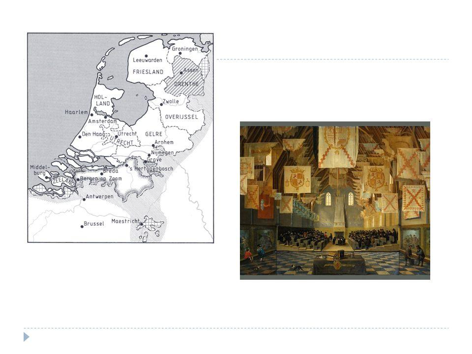  Gewestelijke Staten - Kerkelijk, belastingen en rechtspraak - Oosten: adel, Westen: regenten