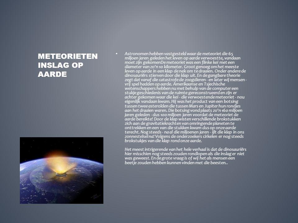 Astronomen hebben vastgesteld waar de meteoriet die 65 miljoen jaren geleden het leven op aarde verwoestte, vandaan moet zijn gekomenDe meteoriet was
