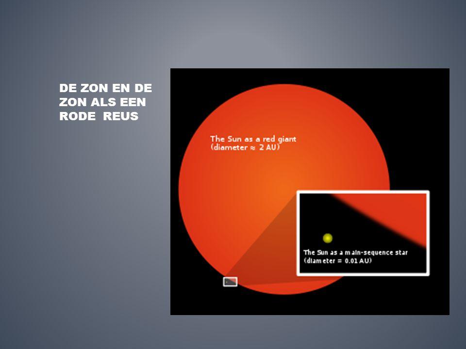 DE ZON EN DE ZON ALS EEN RODE REUS