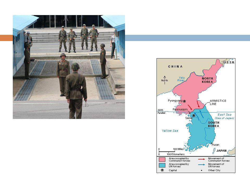  1954: Dominotheorie van Eisenhower - Start bemoeienis met Vietnam - Uitbreiding kernbewapening (start wapenwedloop)