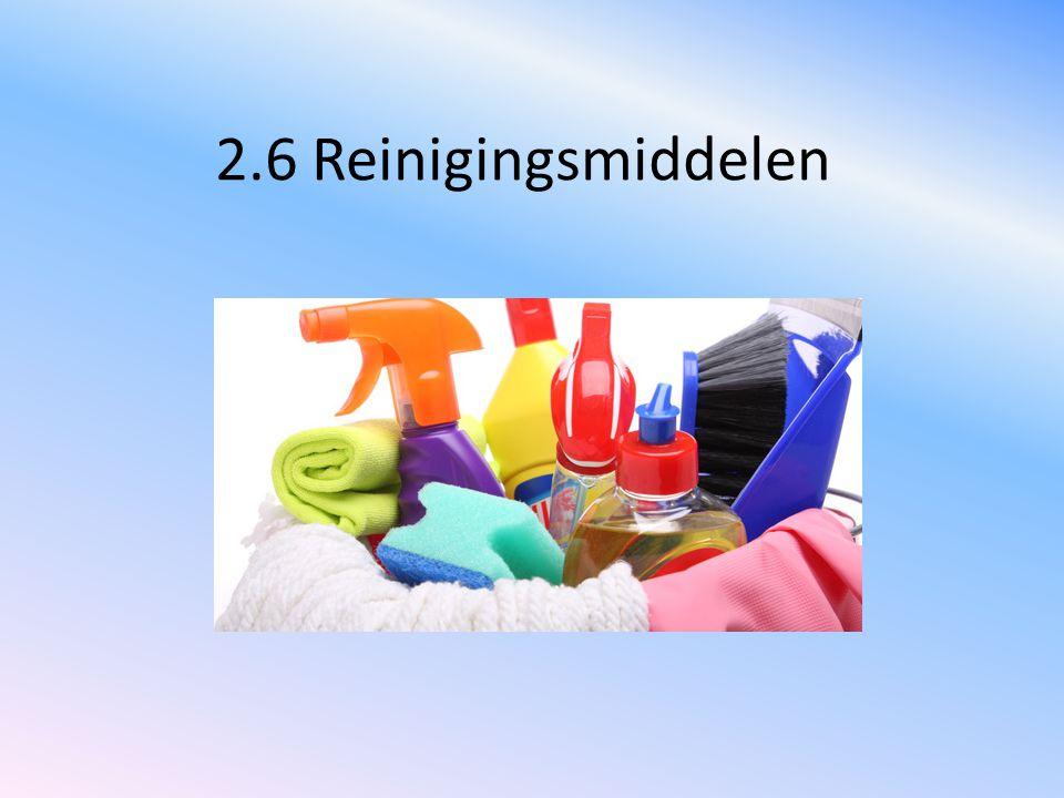 2.6 Reinigingsmiddelen