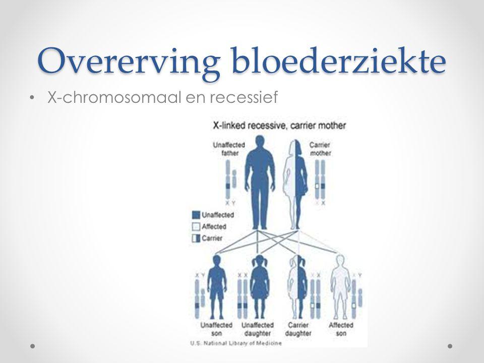 Overerving bloederziekte X-chromosomaal en recessief
