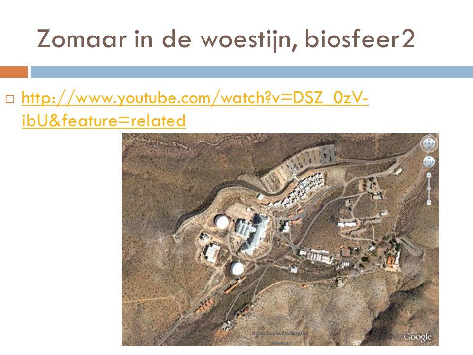 Zomaar in de woestijn, biosfeer2  http://www.youtube.com/watch?v=DSZ_0zV- ibU&feature=related http://www.youtube.com/watch?v=DSZ_0zV- ibU&feature=rel