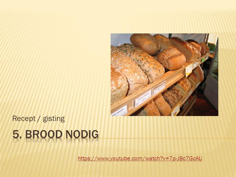  Ingrediënten  Welke  Hoeveelheid  Volgorde  welke processtappen nodig zijn  Brood  weinig  Dure parfum  meer dan honderd
