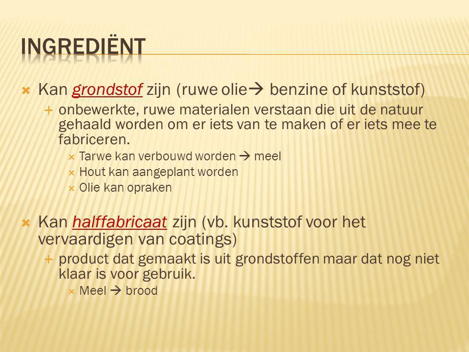  Direct bepaald  Vb.zout  directe beïnvloeding van smaak  Vb.