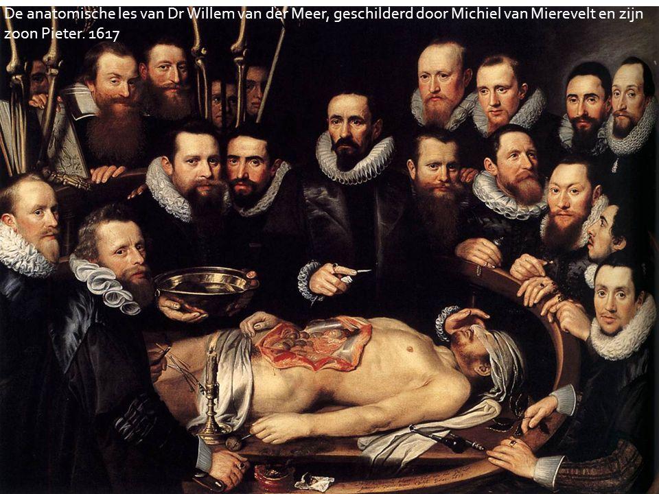 De anatomische les van Dr Willem van der Meer, geschilderd door Michiel van Mierevelt en zijn zoon Pieter.