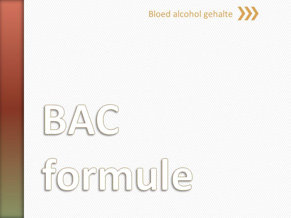 Bloed alcohol gehalte