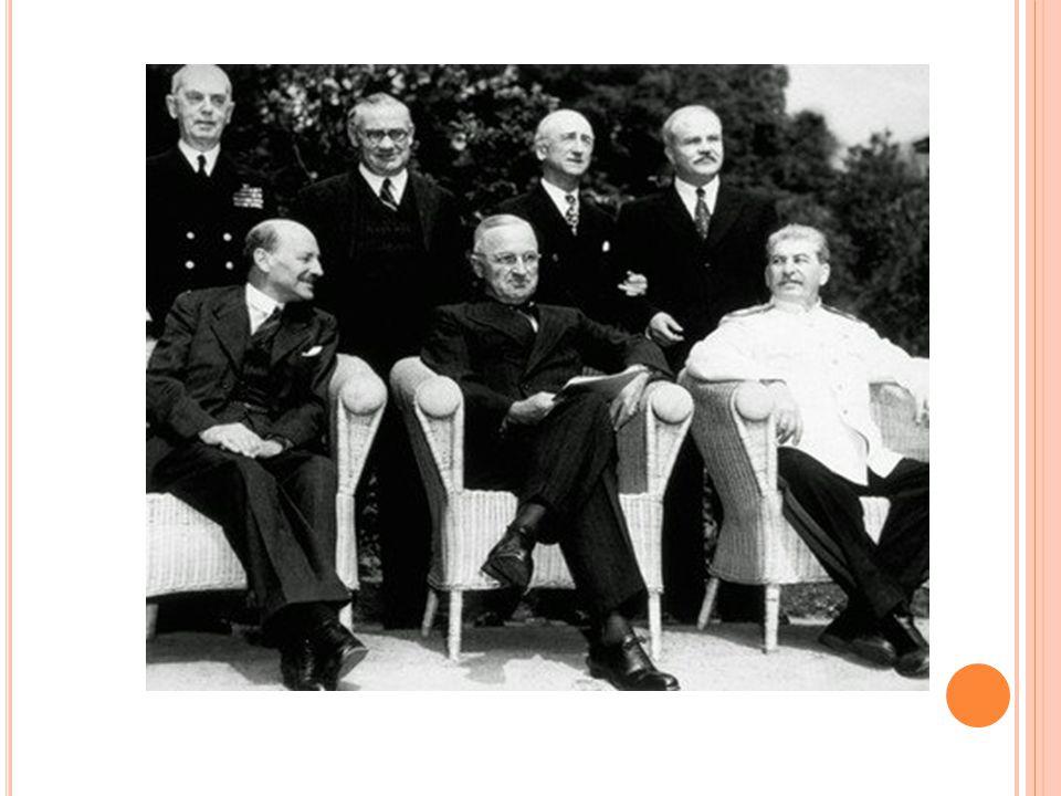 W EDERZIJDSE ANGST Stalin neemt Oost-Europa in VS wordt angstig voor machtsuitbreiding USSR → VS keert zich niet terug naar isolationisme uit angst voor USSR → Stalin ziet de VS als westerse imperialisten en zoekt naar veiligheid
