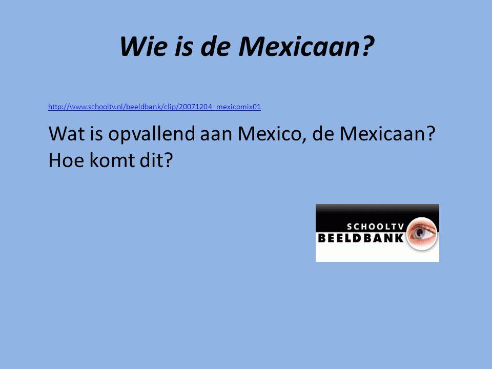 Wie is de Mexicaan.