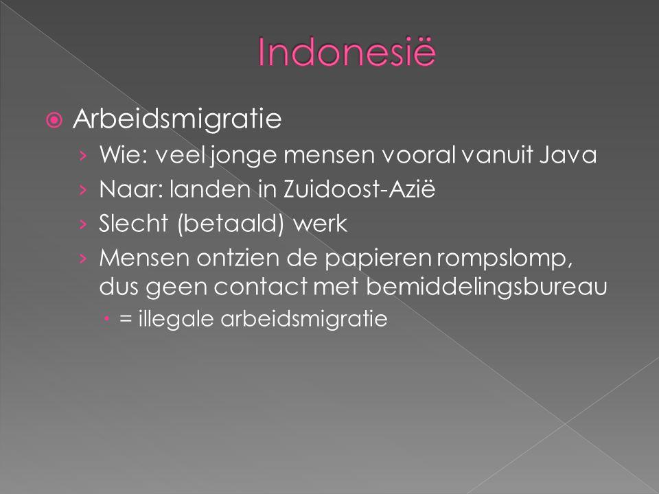  Arbeidsmigratie › Wie: veel jonge mensen vooral vanuit Java › Naar: landen in Zuidoost-Azië › Slecht (betaald) werk › Mensen ontzien de papieren rom