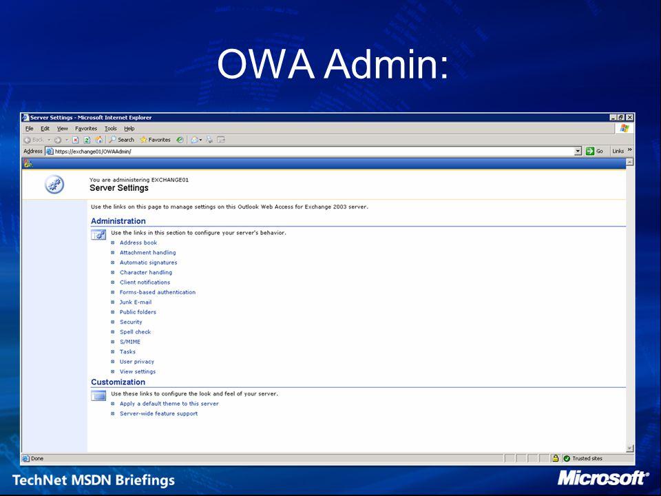 OWA Admin: