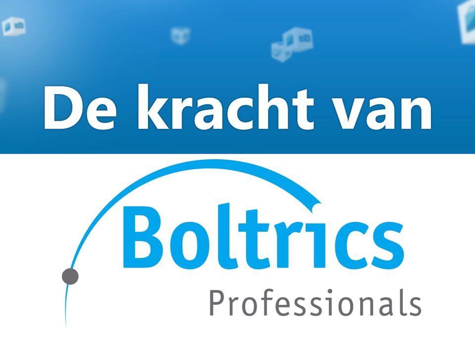 De kracht van Boltrics Professionals Boltrics Professionals bestaat uit een team van zeer ervaren mensen.