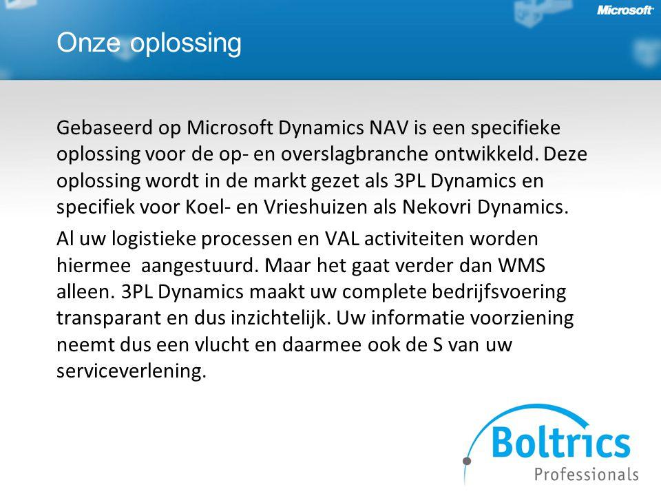 Blokland Coldstores werkt met Microsoft Dynamics.