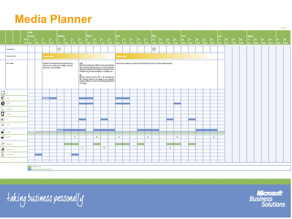 - 13 - IMAGE RESIZED AND CROPPED TO FULL HEIGHT AND WIDTH OF IMAGE AREA Media Planner